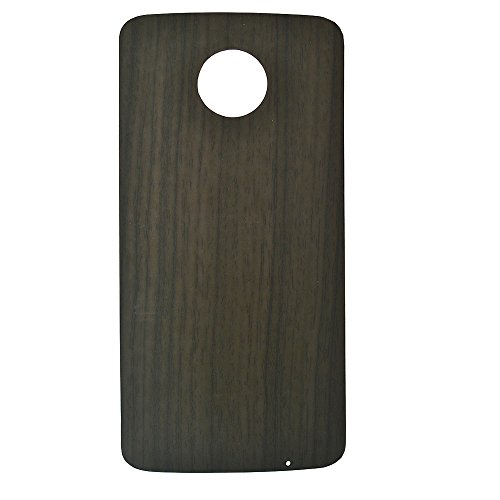 Motorola Moto Z3 Play Style Shell Case,Dngn Ultra Thin Magnetic Adsorption Back Plate Cover for Moto Z Z2 Z3 Series (Gray Grain) (Droid Bionic Battery Cover)