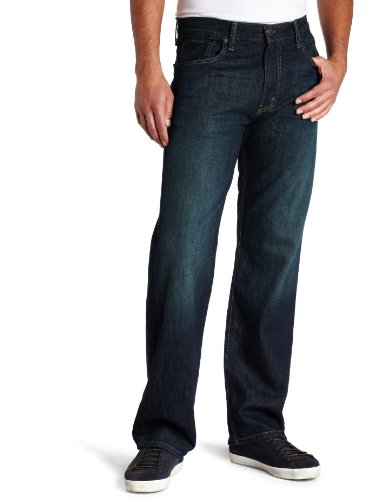 Levi's Men's 569 Loose Straight Leg Jean, Kale, 40W x - Leg Denim Straight Pant