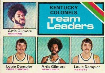 1975 Topps Regular (Basketball) Card# 280 Kentucky Colonels TL of the Kentucky Colonels NrMt Condition