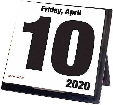Todays Date 2020 Calendar Box Edition Bundle Deluxe 2020 Todays Date 365 Daily Pages Box Calendar with Over 100 Calendar Stickers