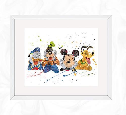 Amazoncom Micky Donald Goofy And Pluto Prints Mickey Mouse