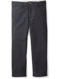 Dark Heather Grey Dressy Faux Wool Pant