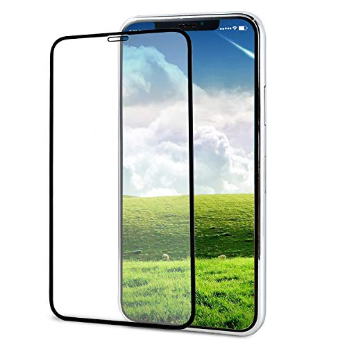 YRMJK iPhone X/XS Screen Protector,3D Tempered Glass Touch Full Coverage Titanium Metal Edge More Fashion [ Edge to Edge Protection ] [Tempered Glass x 1] [2018]
