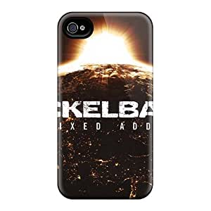 AnnaDubois Iphone 4/4s Shock Absorbent Hard Cell-phone Cases Allow Personal Design Fashion Breaking Benjamin Pictures [vps17023hljg]