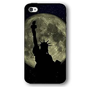 Statue of Liberty against Full Moon New York City Case For Ipod Touch 5 Cover Armor Phone Case