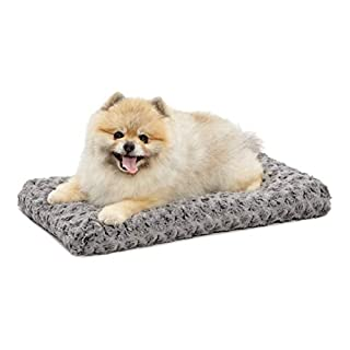 Plush Pet Bed 40622-SGB| Ombré Swirl Dog Bed & Cat Bed | Gray 21L x 12W x 1.5H - Inches for XS Dog Breeds