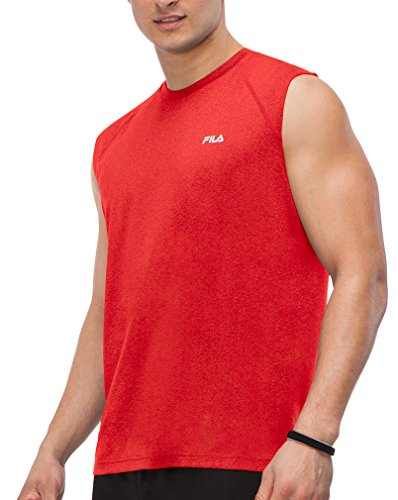 - Fila Men's Sleeveless Top Chinese Red Heather XL