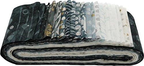 Bali Batiks Noir Bali Poppy 20 2.5-inch Strips Jelly Roll Hoffman Fabrics (Hoffman Bali Batik Quilt Fabric)