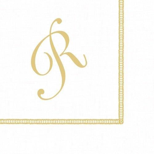 Entertaining with Caspari Monogram Initial R Paper Cocktail Napkins, Pack of 20 ()