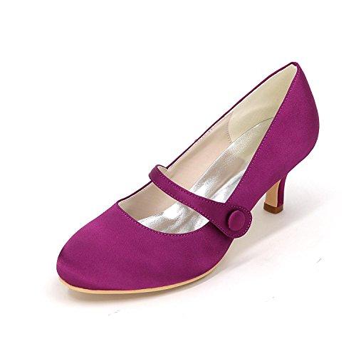 L@YC Frauen High Heels Hochzeit Schuhe Komfort Satin Frühling Sommer Hochzeit Party & abendkleid Rhinestone Purple