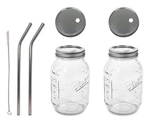 32 oz mason jars regular mouth - 9