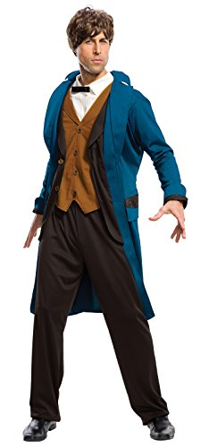 Rubie's Costume Co. Men's Fantastic Beasts Where to Find Them Deluxe Newt Scamander, As Shown, (Find Costume)
