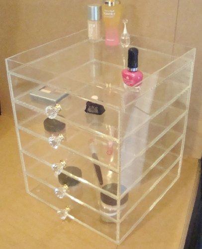 Amazon com  Acrylic Makeup Organizer cube clear Box makeup Case  Beauty. Amazon com  Acrylic Makeup Organizer cube clear Box makeup Case