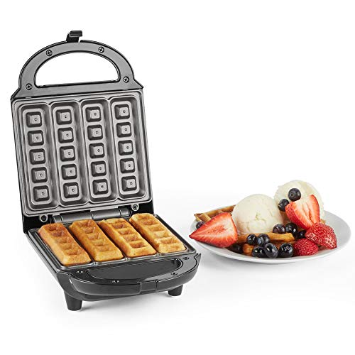 VonShef Stick Waffle Maker | Waffle Iron with Easy Clean Non-Stick Plates and Automatic Temperature Control | 500W
