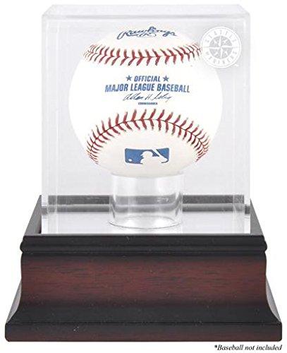 Seattle Mariners Antique Mahogany Baseball Logo Display Case (Mariners Memory Seattle)