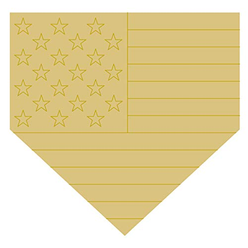 (Home Base Plate Design by Lines Flag Cutout Unfinished Wood Sports Decor Door Hanger Everyday MDF Shape Canvas Style 1 (18