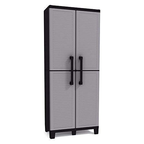 Keter Space Winner Tall Metro Storage Utility Cabinet Indoor/Outdoor Garage or Home Storage with Adjustable...