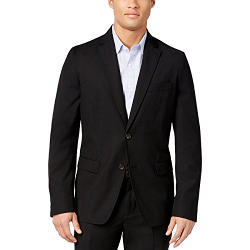 American Rag Mens Lined Non-Vented Two-Button Blazer Black M from American Rag