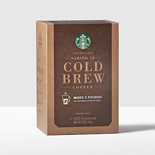Starbucks Narino 70 Cold Brew Coffee Pitcher Packs - 4 Packs -Makes (12) 8 fl oz Servings