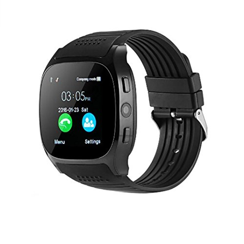 AutumnFall 2018 New T8 BT3.0 Smart Watch Support SIM and TFcard Camera For Android For iPhone (Black)