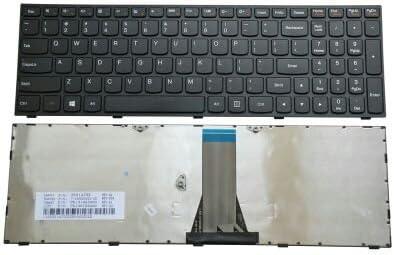 New US Black Keyboard with Backlit silver frame for lenovo ideapad 500-15ACZ