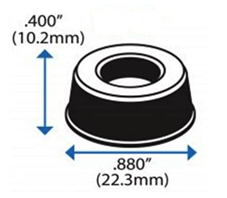 Set of 12 - Made in USA Electronics Small Black Door Knob Bumpers Isolation Rubber Feet for Speakers Furniture GorillaGrit Hardware DRBMP-SMBLK-12 Self-Adhesive Door Stoppers Wall Protectors