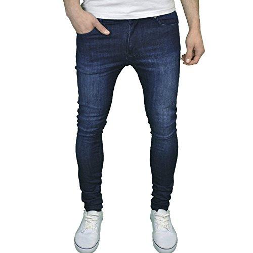 Enzo Mens Designer Branded Super Stretch Skinny Fit Jeans