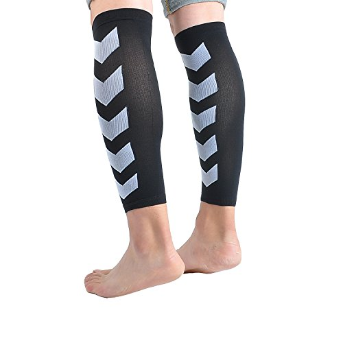 Faladi High Performance Graduated Calf Compression Sleeves for Men& Women (1 Pair)-Help Relief Shin Splints, Calf Strain and Reduce Fatigue -Great for Running,Cycling,Maternity,Travel&More (L/XL) by Faladi (Image #4)