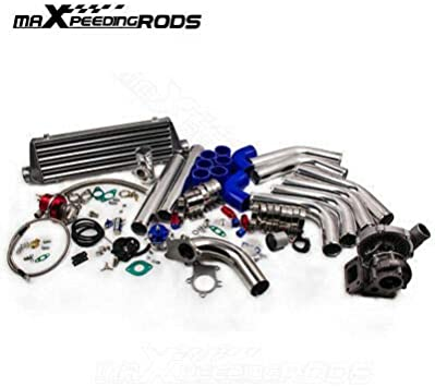 Wastegate maXpeedingrods T3 T4 T04E Universal Turbocharger Kit Stage III Piping New Intercooler