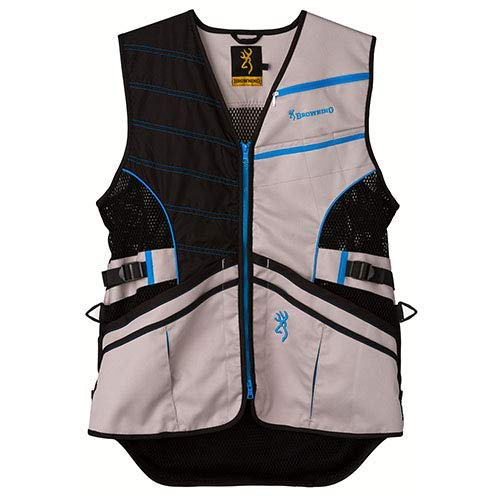Browning, Ace Shooting Vest, Blue, Large (Sporting Clay Shooting Vest)