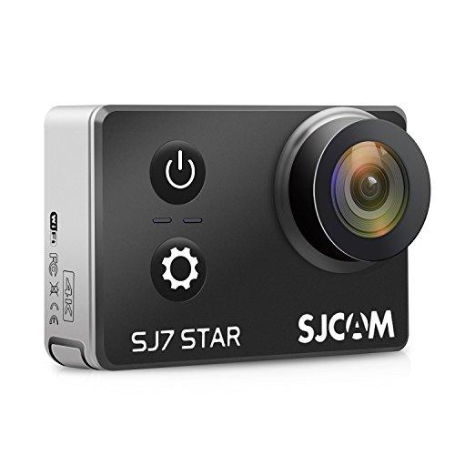 "SJCAM SJ7 STAR 4K HD WIFI Action Camera 2""LCD Touch Screen Metal Body Sports Camcorder Ambarella A12S75 Sony IMX117 Underwater Waterproof Digital Camera Gyro Stabilization Black SJCAM"