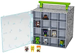Mattel Minecraft Mini-Figure Collector Case with 10 Mini-Figures