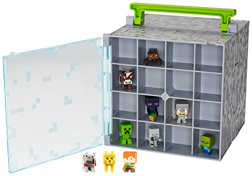 Minecraft Mini Figure Collector Case With 10 Mini Figures