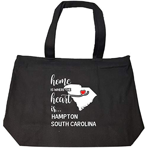 (Hampton County South Carolina Is Where My Heart Is Gift - Tote Bag With Zip)
