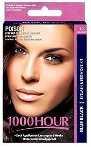 1000 Hour Eyelash & Brow Dye / Tint Kit Permanent Mascara (Blue-Black)