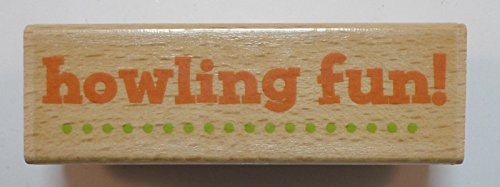 Studio G Howling Fun Halloween Themed Wooden Rubber Stamp