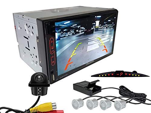 Multimidia Mp7 RS-707MP7 Com Câmera De Ré RS-122BR E Sensor De Estacionamento RS-204BR PRATA