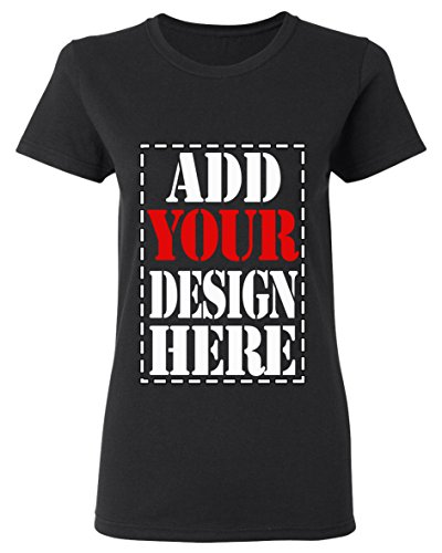 Design Your OWN Shirt Customized T-Shirt - Add Your Picture Photo Text Print - Women Tee (Slim Fit)