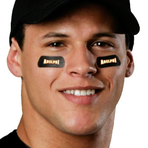 (24 Strips) Adelphi Panthers Eye Black Anti Glare Stickers, Great for Fans & Athletes on Game Day