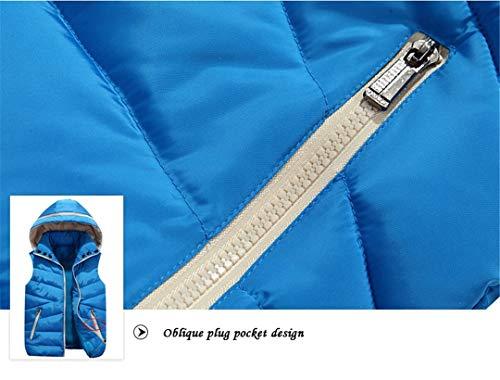Vento Gilet Senza A Giù Blu Sciolti Giacche Cappuccio Inverno Maniche Degli Con Uomini Paio Un7gxSHRqw