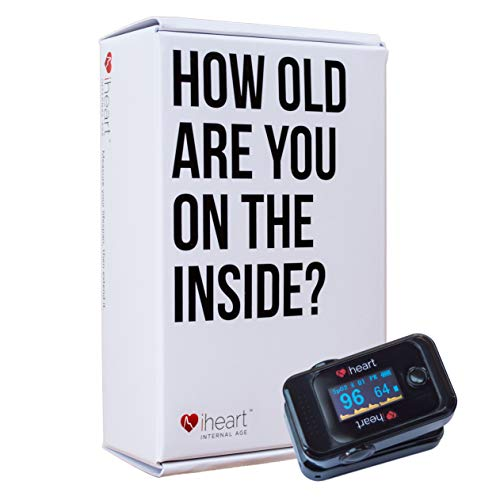 Great Portable Oxygen Machine iHeart Internal Age Health Monitor, Fingertip Health and Fitness Tracker. Measure Biological Age, Pulse Wave Velocity, Aortic Stiffness, Sp02 and Heart Rate BPM with our iOS and Android App 2019