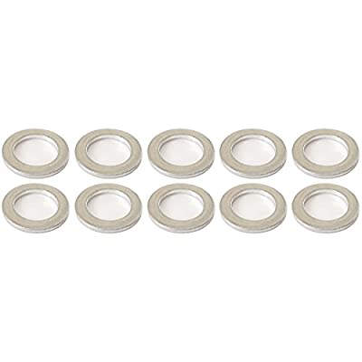Prime Ave Aluminum Oil Drain Plug Washer Gaskets 14mm For Acura & Honda Part# 94109-140-00 (Pack of 10): Automotive