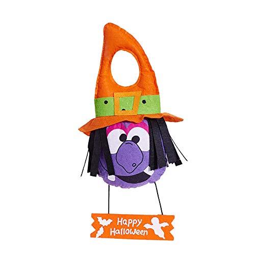 Happy Halloween Hanging Decoration Door Sign Trick or Treat Party Toy 2018 (C) -