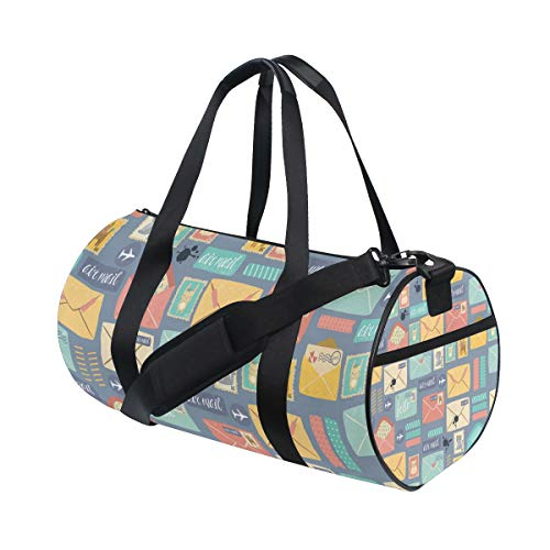 Gym Bags Sports Travel Overnight Duffel Bags for Men/Women - Postal Stationery