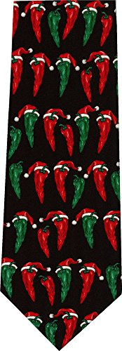 Chili Pepper Christmas Hat New Novelty Tie Necktie