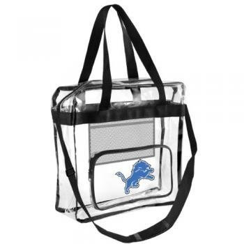 Detroit Lions Stadium - FOCO NFL Detroit Lions Team Logo High End See Thru Clear Messenger Bag, Logo, One Size