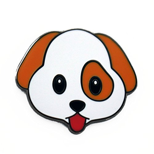 Real Sic Emoji Lapel Pin - Kawaii Cute Puppy Enamel Pin Gifts for Dog Lovers (Puppy Dog Pin)
