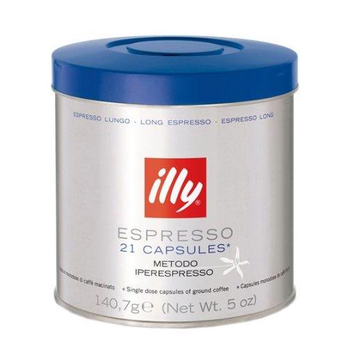 Illy Iper 21 count espresso capsules, MEDIUM ROAST (Lungo 21 count Capsules)