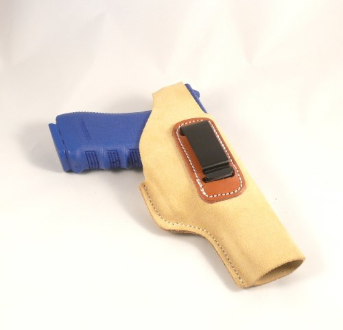 Glock 17, Glock 22 Concealed Carry Suede IWB - Inside The Pants Clip Pistol Holster Inside Pant Suede Pistol Holster
