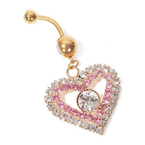 (New Navel Belly Ring Rhinestone Button Bar Barbell Body Piercing Jewelry Good (StyleID - 39))